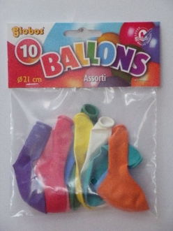 25*10 Gekleurde ballonnen dans 20cm BE10