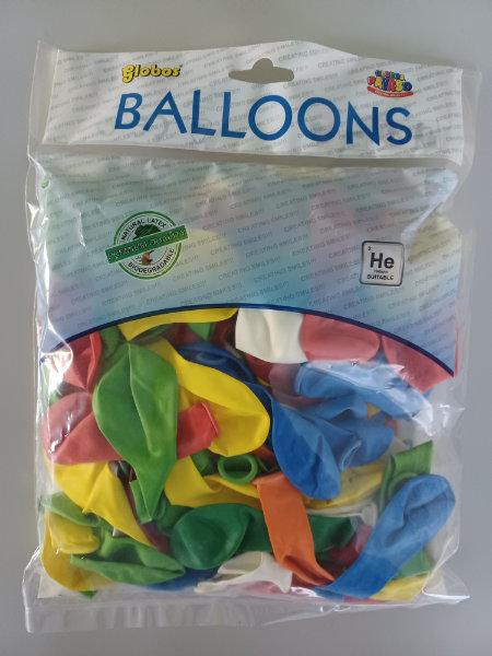 Zak 100 Ballonnen 100% latex ass. 1006