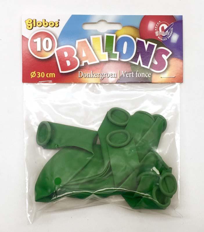 10 Groene balonnen in zak