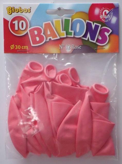 10 roze balonnen in zak