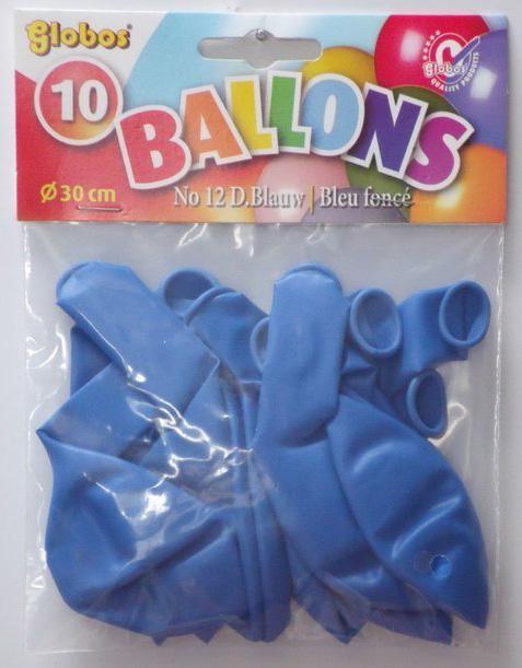 10 Blauwe ballonnen in zak