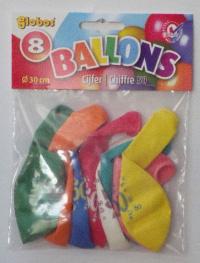 8 ballonnen 50 jaar no.12 6003  2176