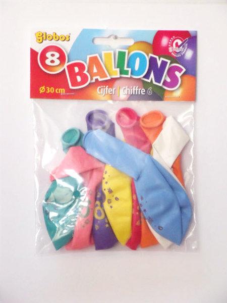 8 cijferballonnen nr. 7 2228