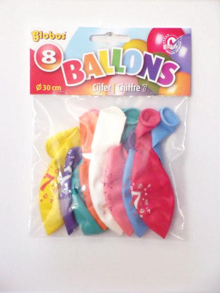 8 cijferballonnen nr. 8 2229