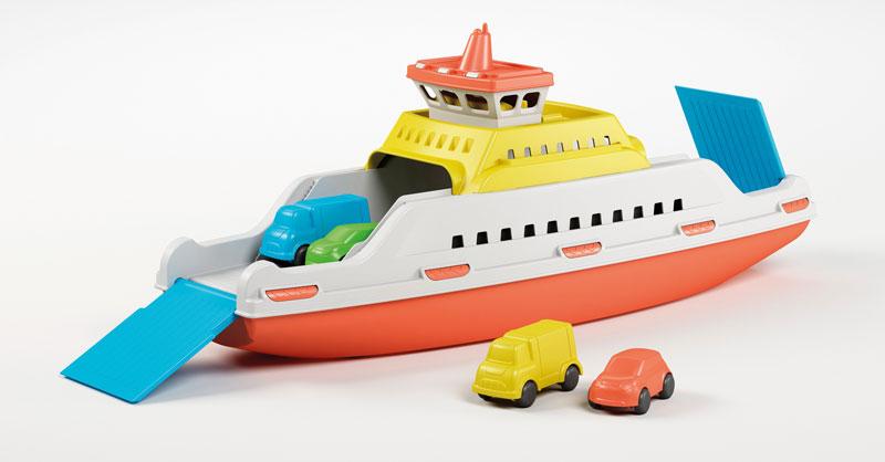 Veerboot met 4 auto s 39 cm. 836