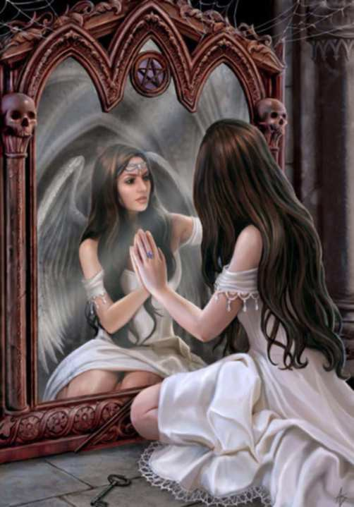 Diamond paint. Vrouw spiegel DL4050/111