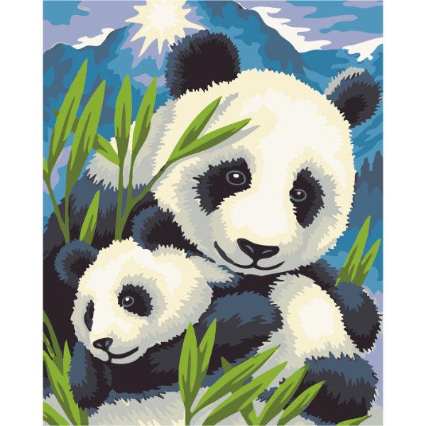 Schilderen op nummer panda PBN5276