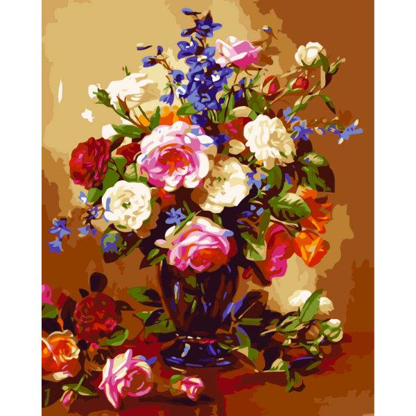 Schilderen op nummer bloemen PBN5380