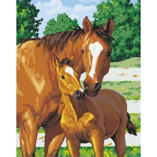 Schilderen op nummer paarden PBN5422