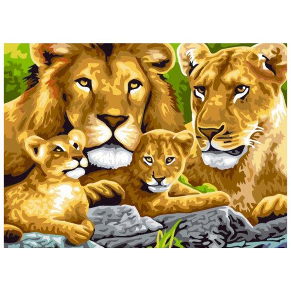 Schilderen op nummer leeuwen PBN5410