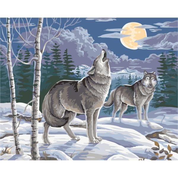 Schilderen op nummer wolven PBN5081