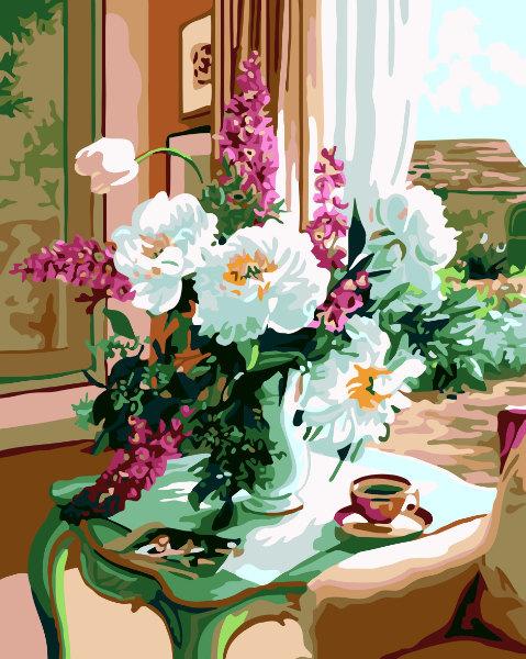 Schilderen op nummer bloemen PBN5305