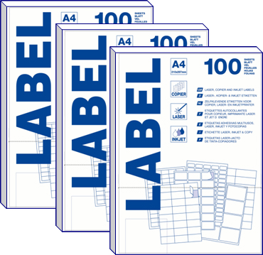 A4 labels 100 vel 99.1*38.1mm