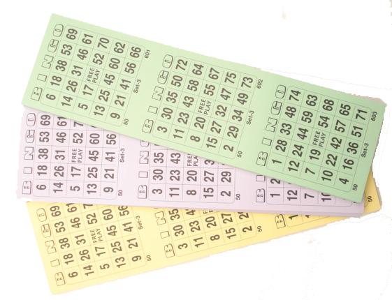 10 Bingoblokken 100X3Krt 1-75 75BT01