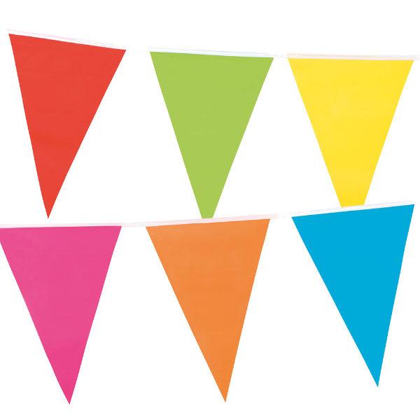 Partypartners Slinger gekleurde vlaggen 10 meter