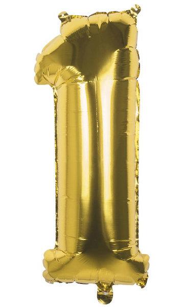 Folieballon 1 goud 22001