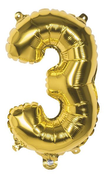 Folieballon 3 goud 22003