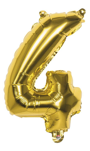 Folieballon 4 goud 22004