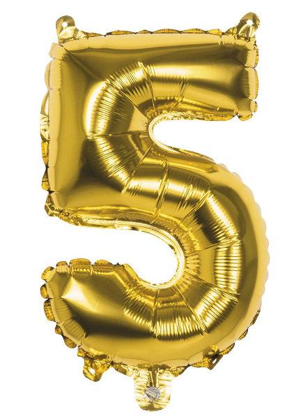 Folieballon 5 goud 22005