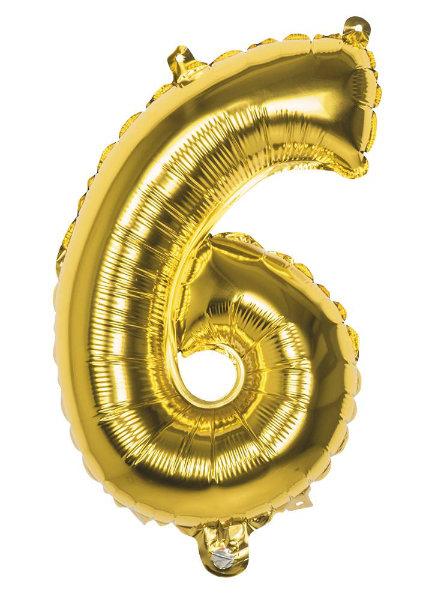 Folieballon 6 goud 22006