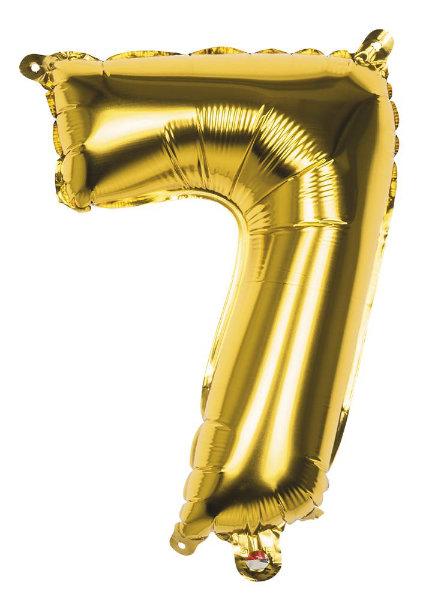 Folieballon 7 goud 22007