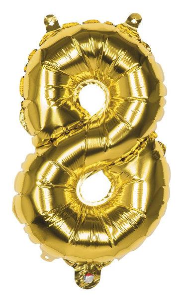 Folieballon 8 goud 22008