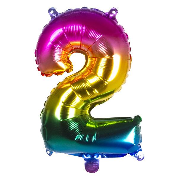 Folieballon 2 regenboog 21982