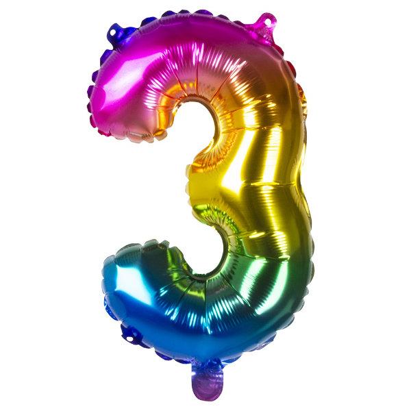 Folieballon 3 regenboog 21983