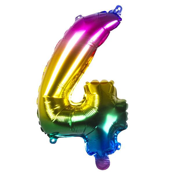 Folieballon 4 regenboog 21984