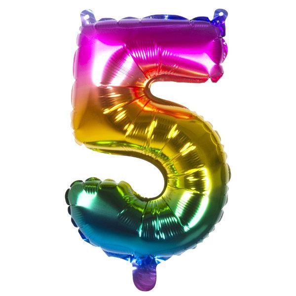 Folieballon 5 regenboog 21985