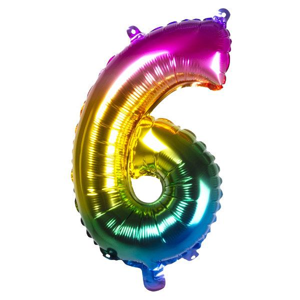 Folieballon 6 regenboog 21986