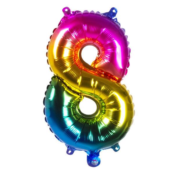 Folieballon 8 regenboog 21988