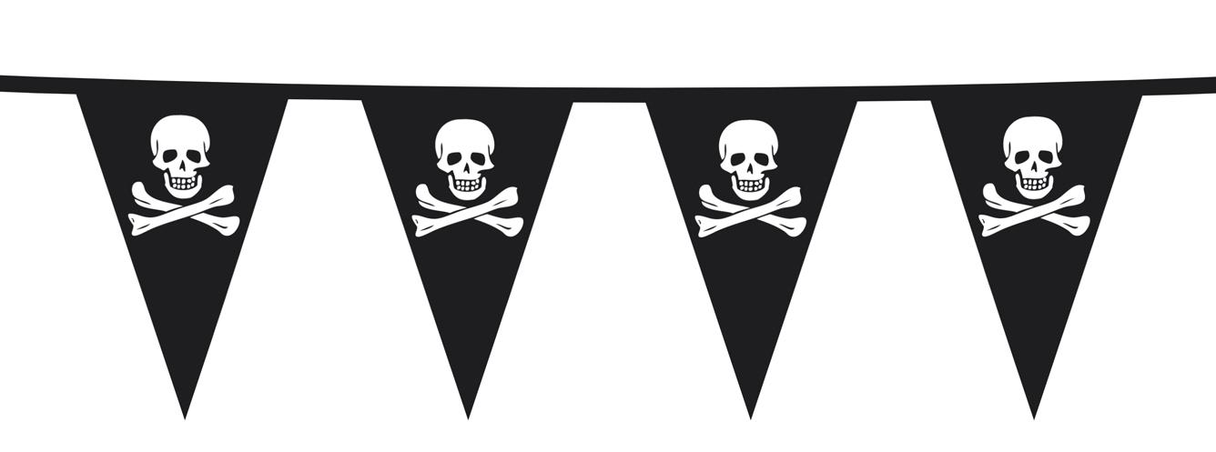 St. Pe Vlaggenlijn Piraat (6    M)