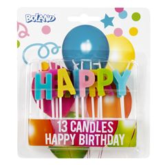 Happy birthday kaarsjes 13 delig 31071