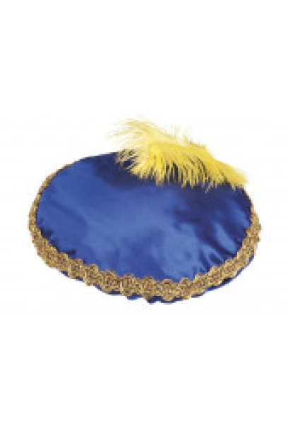 Zwarte Piet baret blauw 56508