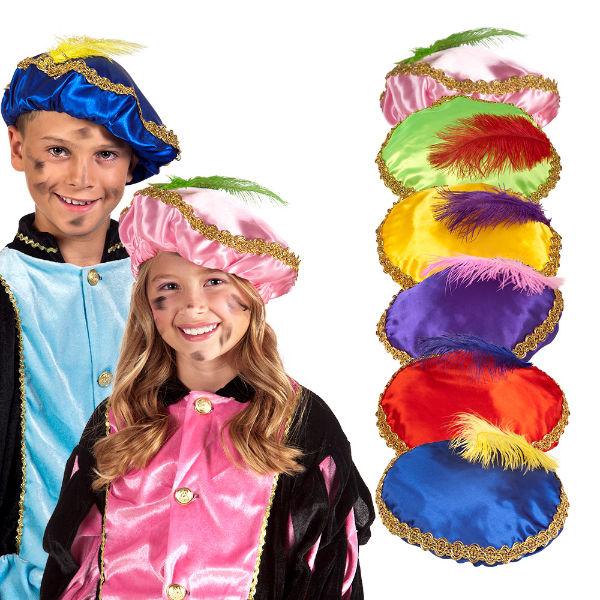 Zwarte Piet Baret 6 assorti 56507