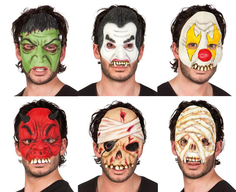 Halloween latex half masker 97500