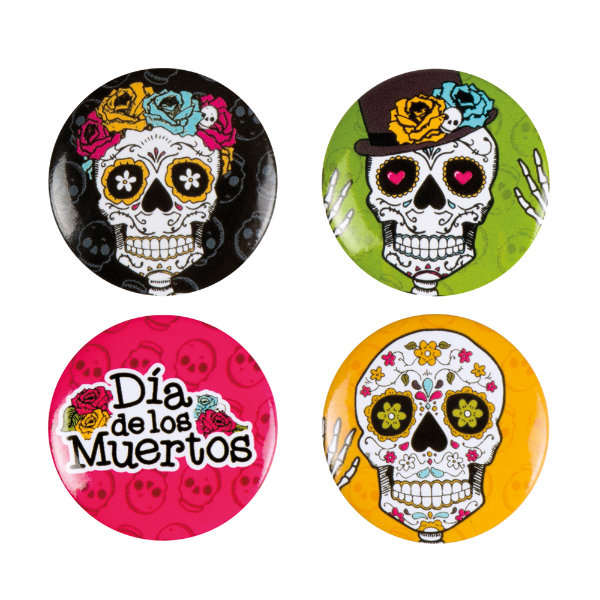 4 buttons day of the dead 97023