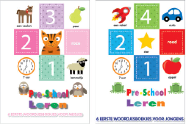 Pre-school leren cadeaubox 6 boekjes