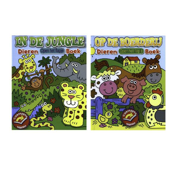 Dieren kartonboek met flapjes