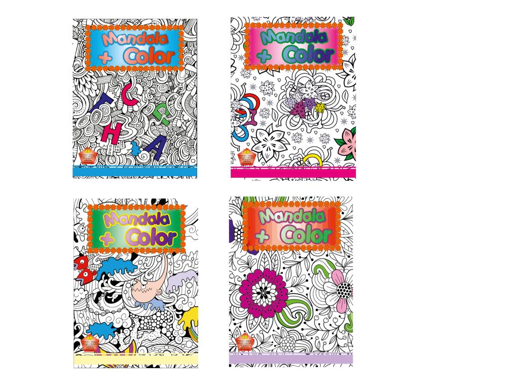 Mandala en color boek A4 48 pagina