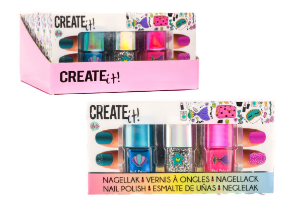 Create it! 3 nagellak zeemeermin 84134