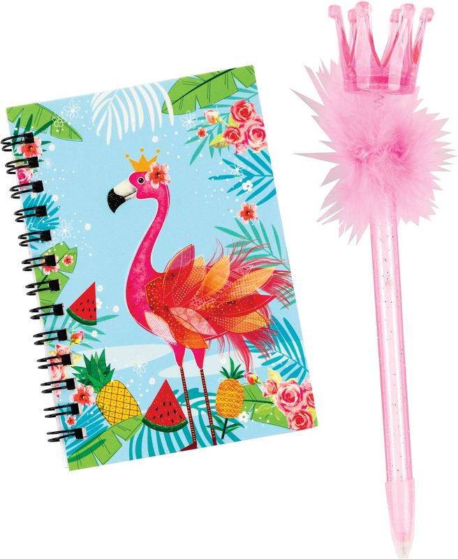 Notitieboek met pen flamingo 80424