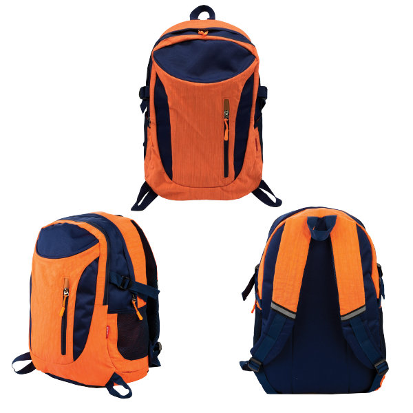 Centrum Rugtas oranje blauw 89440