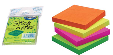 24 sticknotes 76*76mm neon 100 vel centr