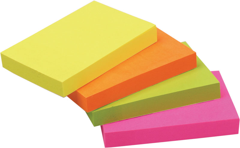 24 sticknotes 76x51mm neon 100 vel 82211