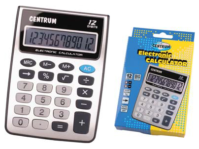 Centrum Calculator met 12 digits 83401