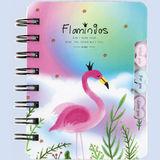 Notitieboek met spiraal flamingo 81990