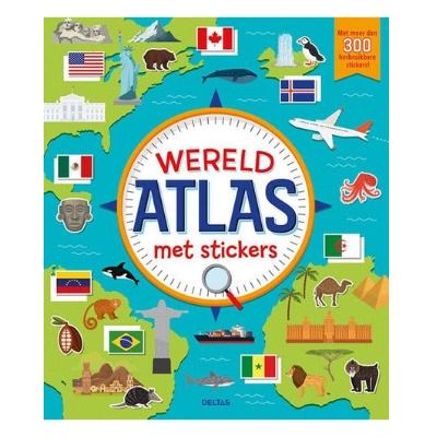 Wereldatlas voor stickers 7,95 adv.