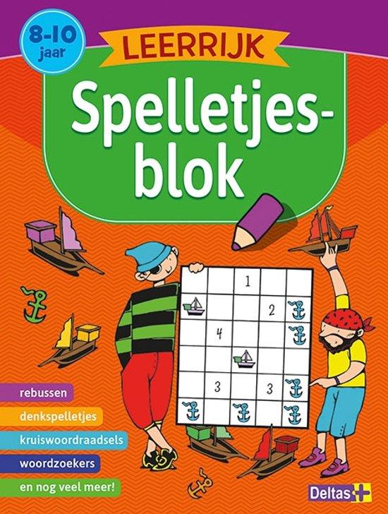 Leerrijk spelletjesblok 8-10 jaar 7,50ad